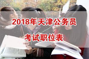 2018年天津公务员考试职位表