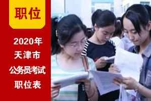 2020年天津市考招录职位表